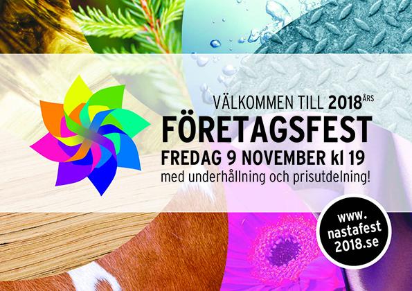 Anmäl dig till Företagsfesten redan nu på nastafest2018.se