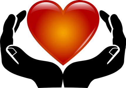 Ett hjärta i två händer