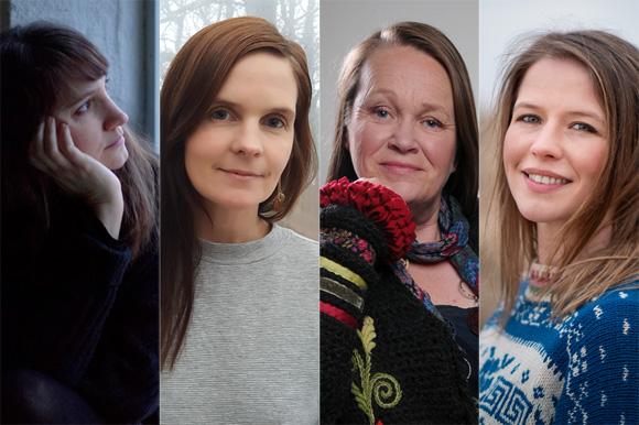Krystallia Sakellariou, Anna Öst, Katarina Segerbrand och Elvira Roslund Gustavsson.